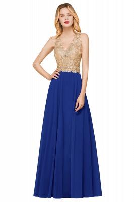 Cheap Chiffon Appliques Long Prom Dress | Affordable Floor Length A-line Evening Dresses_3