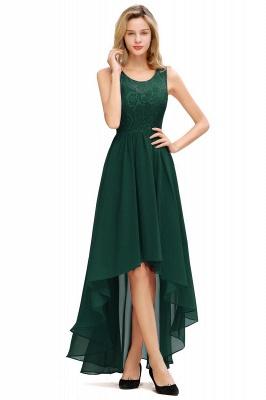 Cheap A-line Hi-lo Chiffon Lace Bridesmaid Dress in Stock_2