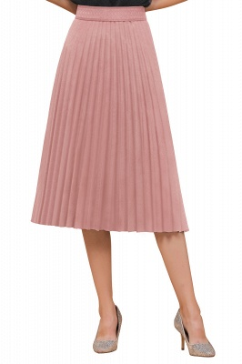 A-line Knitted Short Pleated Skirt_72