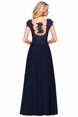 Cap Sleeve Scoop Lace Beading Floor Length Formal Evening Dresses | A Line Chiffon Sexy Prom Dresses_25