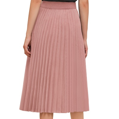 A-line Knitted Short Pleated Skirt_2