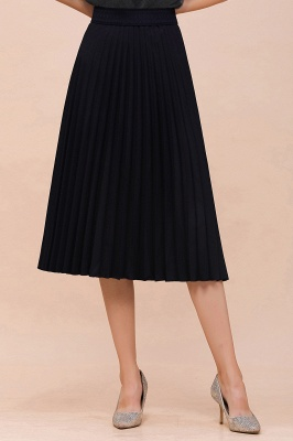 A-line Knitted Short Pleated Skirt_49