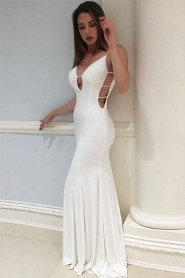 Sexy Mermaid  Spaghetti Straps Backless Long Prom Dress | Evening Dress_2