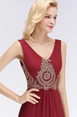 A-Line Chiffon Lace Ruffles Evening Dress On Sale_12