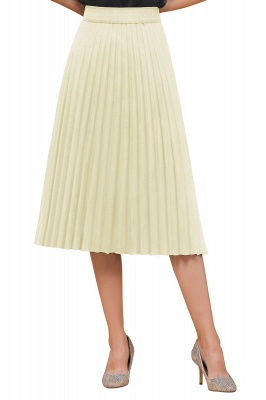 A-line Knitted Short Pleated Skirt_78