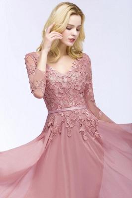 Elegant Chiffon Lace Dusty Rose Evening Dress_12
