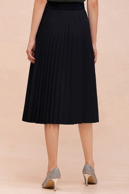 A-line Knitted Short Pleated Skirt_54