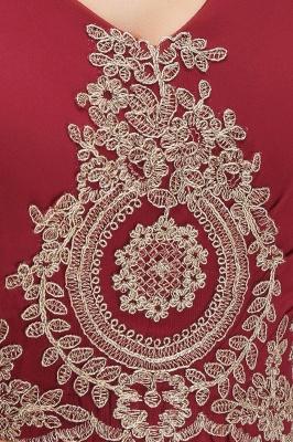 A-Line Chiffon Lace Ruffles Evening Dress On Sale_13