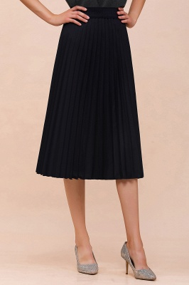 A-line Knitted Short Pleated Skirt_42