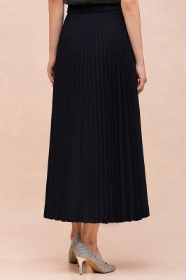 Knitted A-line Tea Length Pleated Skirt_27