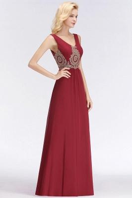 A-Line Chiffon Lace Ruffles Evening Dress On Sale_10
