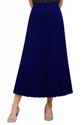 Knitted A-line Tea Length Pleated Skirt_28