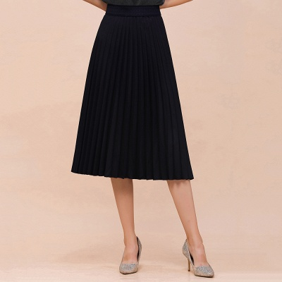 A-line Knitted Short Pleated Skirt_8