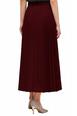 Knitted A-line Tea Length Pleated Skirt_33