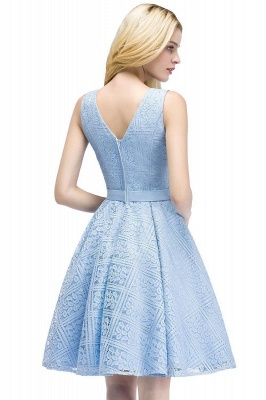 Lovely A-line Lace Knee-Length Homecoming Dress On Sale_13