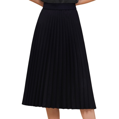 A-line Knitted Short Pleated Skirt_18