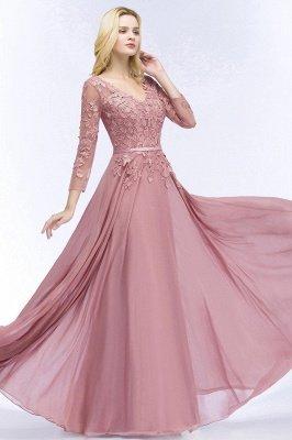 Elegant Chiffon Lace Dusty Rose Evening Dress_9