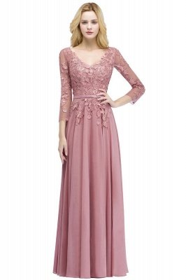Elegant Chiffon Lace Dusty Rose Evening Dress_8