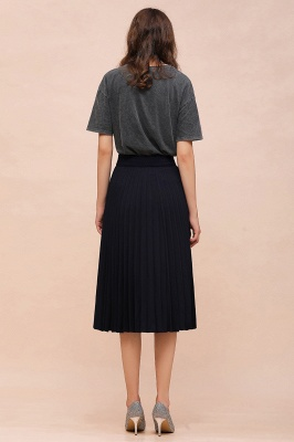 A-line Knitted Short Pleated Skirt_53