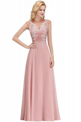 Cheap A-line Jewel Sleeveless Chiffon Tulle Lace Bridesmaid Dress in Stock_11