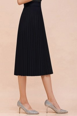 A-line Knitted Short Pleated Skirt_48