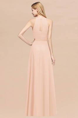 A-Line  Halter Ruffles Floor-Length Bridesmaid Dress_5