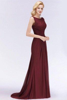 Mermaid Burgundy Chiffon Ruffles Evening Dress On Sale_13
