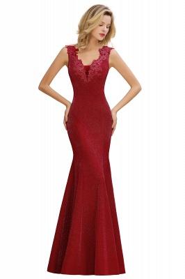 Glittery Deep V-neck Sleeveless Pink Floor-length Long Evening Dresses_2