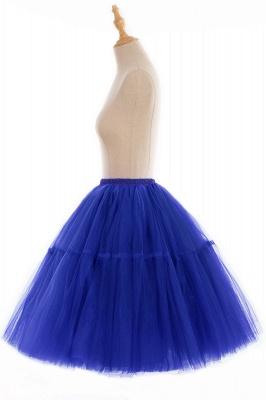 Elegant Tulle Short Ball-Gown Knee Length Elastic Women Skirts_76