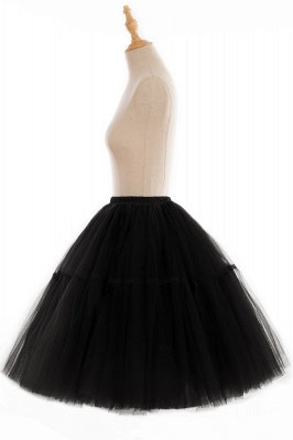 Elegant Tulle Short Ball-Gown Knee Length Elastic Women Skirts_84