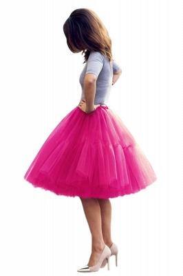 Elegant Tulle Short Ball-Gown Knee Length Elastic Women Skirts_54