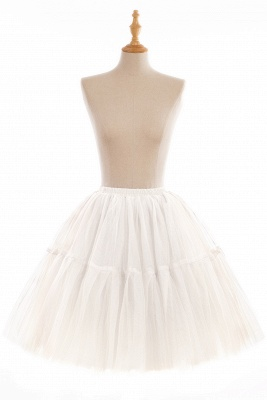 Elegant Tulle Short Ball-Gown Knee Length Elastic Women Skirts_2