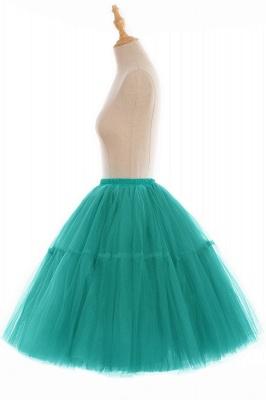 Elegant Tulle Short Ball-Gown Knee Length Elastic Women Skirts_94