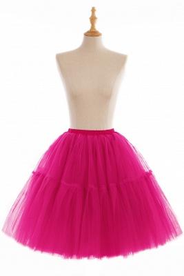 Elegant Tulle Short Ball-Gown Knee Length Elastic Women Skirts_5