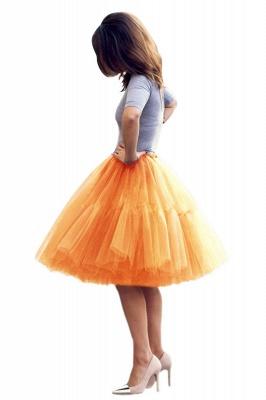 Elegant Tulle Short Ball-Gown Knee Length Elastic Women Skirts_26
