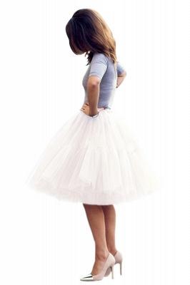 Elegant Tulle Short Ball-Gown Knee Length Elastic Women Skirts_22