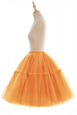 Elegant Tulle Short Ball-Gown Knee Length Elastic Women Skirts_81