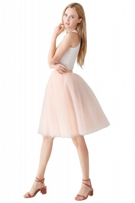 Jewel Sleevelss Knee Length A-line Cute Short Party Dresses_14