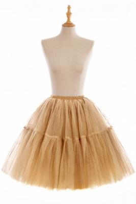 Elegant Tulle Short Ball-Gown Knee Length Elastic Women Skirts_8