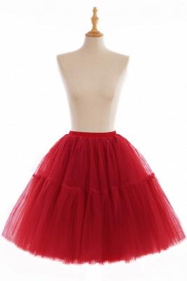 Elegant Tulle Short Ball-Gown Knee Length Elastic Women Skirts_4