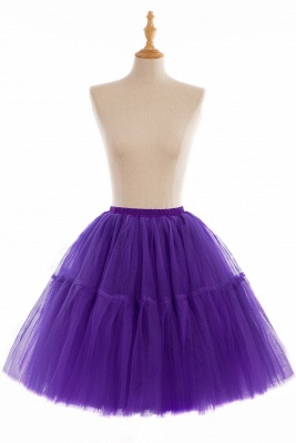 Elegant Tulle Short Ball-Gown Knee Length Elastic Women Skirts_12