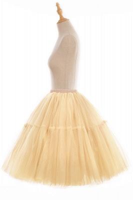 Elegant Tulle Short Ball-Gown Knee Length Elastic Women Skirts_105