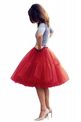 Elegant Tulle Short Ball-Gown Knee Length Elastic Women Skirts_28