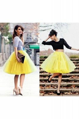 Elegant Tulle Short Ball-Gown Knee Length Elastic Women Skirts_42