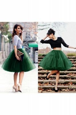 Elegant Tulle Short Ball-Gown Knee Length Elastic Women Skirts_61