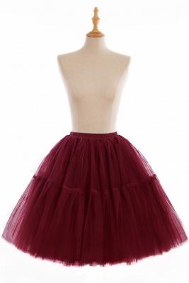 Elegant Tulle Short Ball-Gown Knee Length Elastic Women Skirts_6