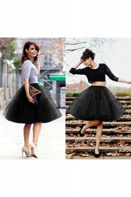 Elegant Tulle Short Ball-Gown Knee Length Elastic Women Skirts_38