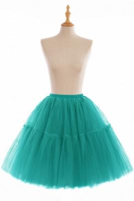 Elegant Tulle Short Ball-Gown Knee Length Elastic Women Skirts_17