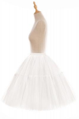 Elegant Tulle Short Ball-Gown Knee Length Elastic Women Skirts_74