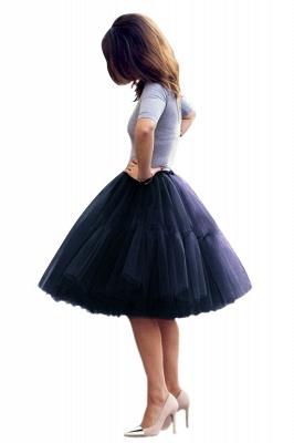 Elegant Tulle Short Ball-Gown Knee Length Elastic Women Skirts_25